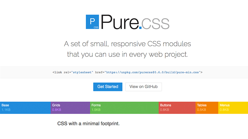 pure css framework bootstrap alternative