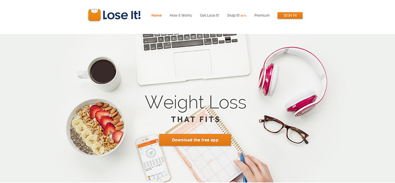 Lose It! is about losing weight