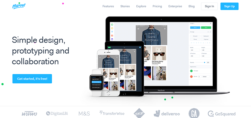 Marvel is a web-based prototyping tool