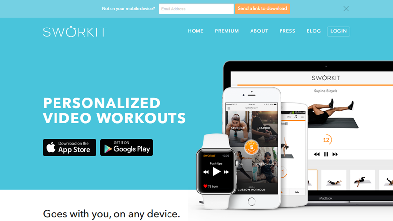 Sworkit is a mobile application in fitness area