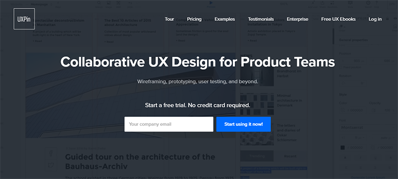UXPin is one more web-based tool for prototyping