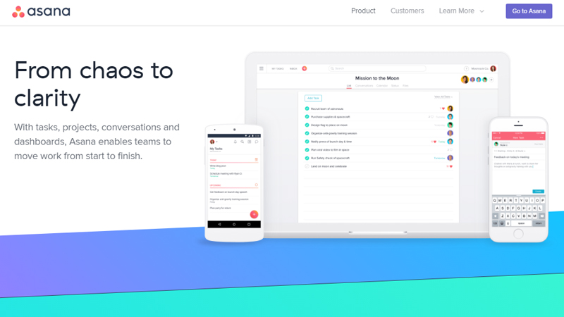 Asana project management tool
