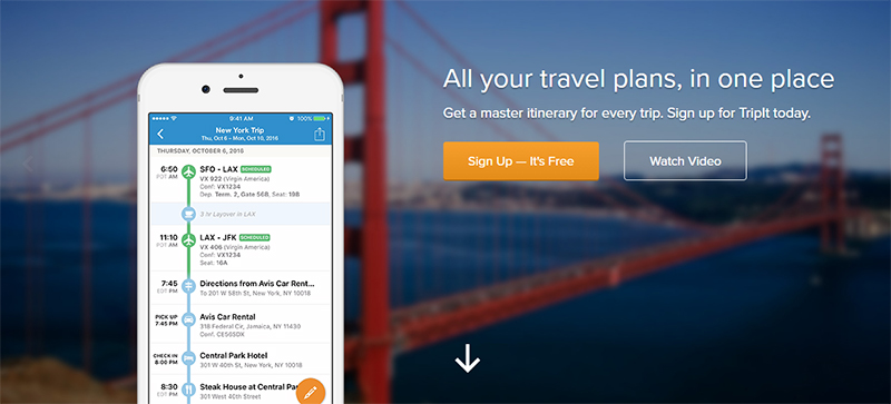 keeping track of your trip
